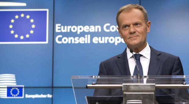 Donald Tusk revealed EU leaders have decided to extend sanctions against Russia (Virginia Mayo/AP/PA)