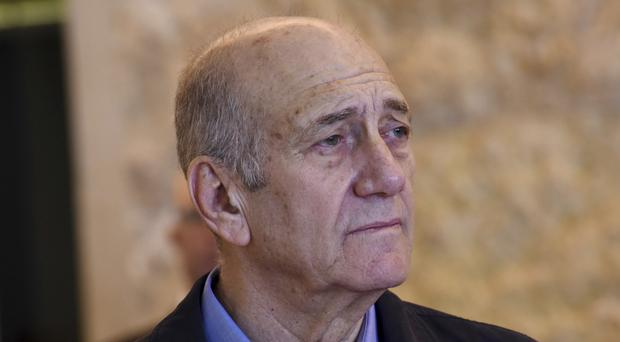 Former Israeli prime minister Ehud Olmert (Debbie Hill/Pool File Photo via AP)