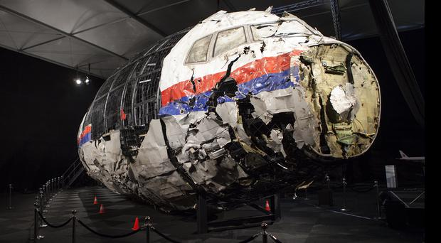 Images from the final report into the investigation of the explosion on Boeing 777 flight MH17 which killed 298 people (Dutch Safety Board/AP)