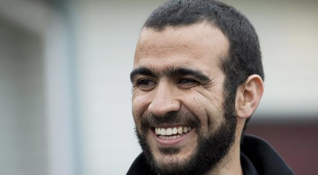 Omar Khadr pictured in 2015, as the former Guantanamo Bay prisoner received a multimillion pound payment from the Canadian government (Nathan Denette/The Canadian Press via AP, File)
