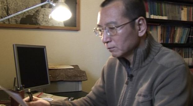 Liu Xiaobo at home in Beijing, China, in 2008 (AP Video via AP)