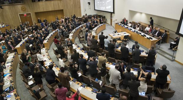 United Nations adopts treaty for outlawing nuclear weapons