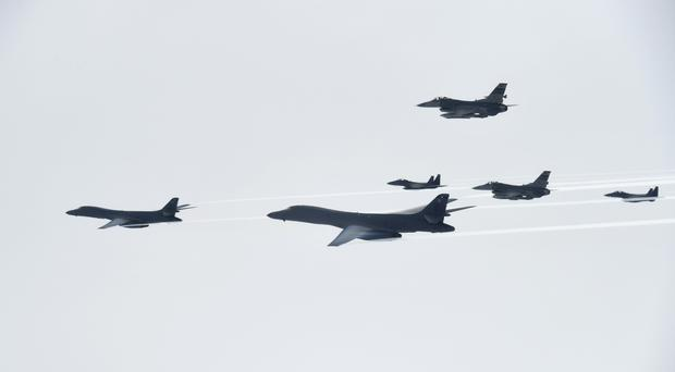 U.S. unleashes bombers in 'North Korea air strike drill'