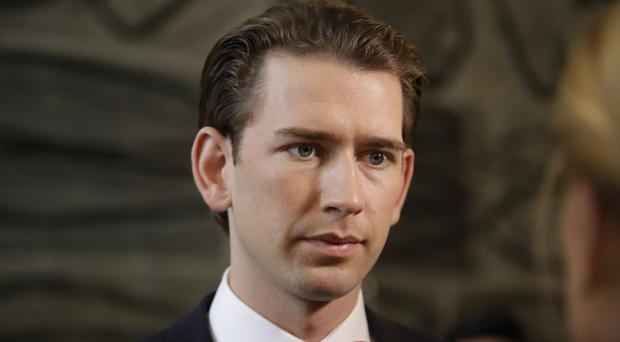 Mr Kurz has called for Europe to overcome a 'crisis of confidence' (AP)