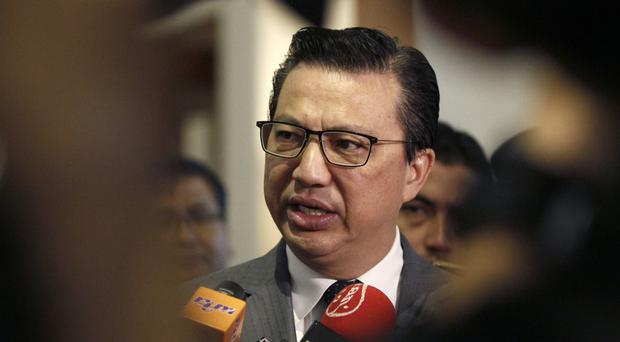 Malaysian Transport Minister Liow Tiong Lai speaks to journalists during the Malaysia Airlines MH17 remembrance event in Putrajaya, Malaysia (AP)