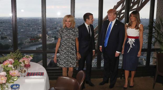 Macron welcomes guest of honour Trump at Paris Bastille Day celebrations
