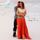Julie Baum and Tom Sylvester tied the knot in the first official wedding on the British Antarctic Territory