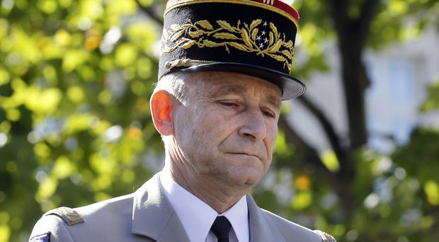 General Pierre de Villiers has resigned as head of France's armed forces (Etienne Laurent/Pool Photo via AP, File)