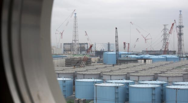 Storage tanks for contaminated water at the Fukushima Dai-ichi nuclear power plant. (AP)
