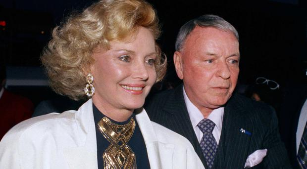 Frank Sinatra and his wife Barbara in 1988 (AP)