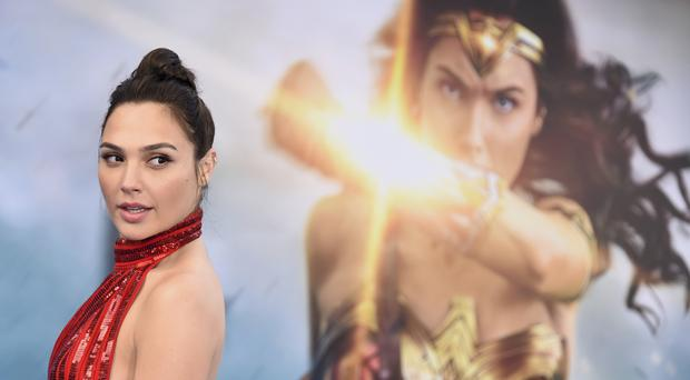 Gal Gadot at the world premiere of Wonder Woman in Los Angeles (Invision/AP)