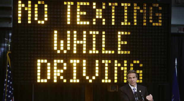New York governor Andrew Cuomo wants to get tough on texting while driving in his state (AP)