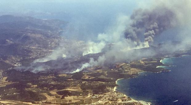 Raging Wildfires on French Riviera Force Evacuation of 12000 People