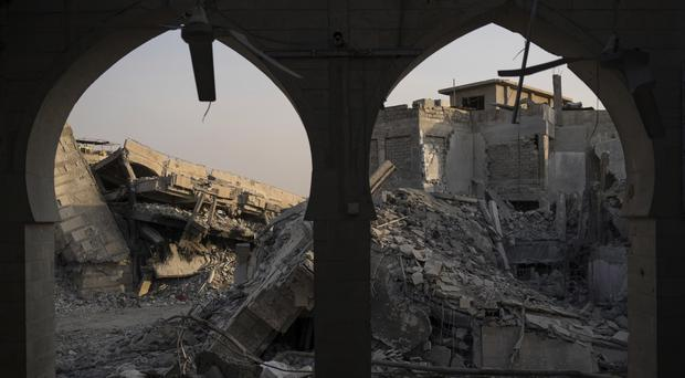 Destroyed buildings sit on the Old City of Mosul, Iraq (AP)