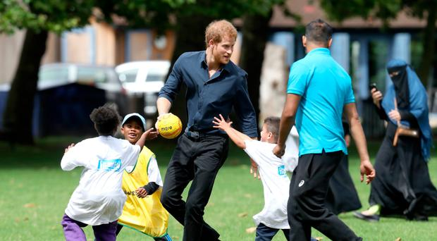 Harry at the Fit And Fed event in East Ham
