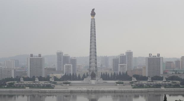 North Korea's capital Pyongyang, as Americans were warned to leave the country by September 1 (AP Photo/Wong Maye-E)