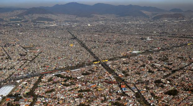 The buses are only able to run on a few lines of Mexico City's confined-lane Metrobus routes