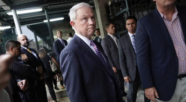 US attorney general Jeff Sessions (AP)