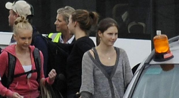 Amanda Knox (right) spent for years in jail for the 2007 killing of her British roommate Meredith Kercher