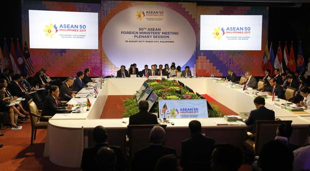 Asean ministers call on sea claimants to avoid militarization in communique