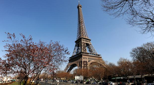 The man was arrested by police at the Eiffel Tower in Paris