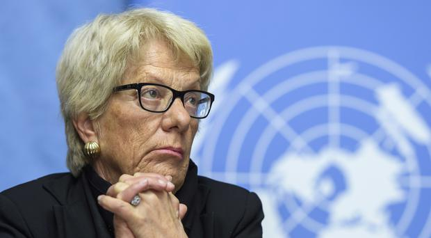 Carla del Ponte is resigning from the UN's independent Commission of Inquiry on Syria after five years (Martial Trezzini/Keystone via AP, File)