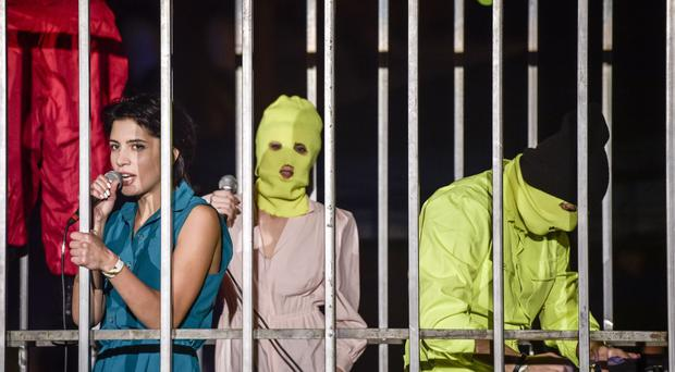 Russian punk group Pussy Riot.