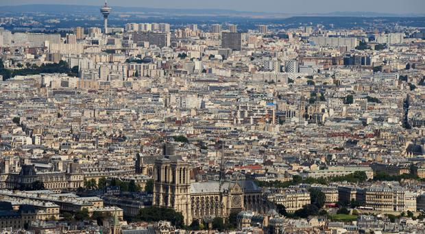 The incident happened in the north-west Paris suburb of Levallois