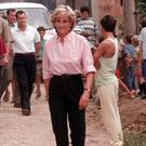 Diana, Princess of Wales during her visit to Sarajevo (Stefan Rousseau/PA)