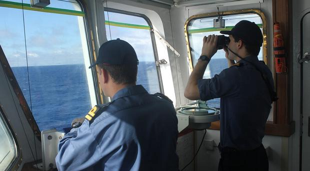 The crew of survey ship HMS Echo joined the southern Indian Ocean search for the plane's flight recorder (Ministry of Defence/PA)