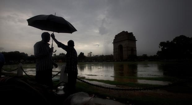 The monsoon season in India increases the risk of landslides