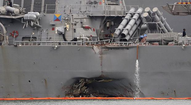 Navy suspends USS John McCain search-and-rescue efforts
