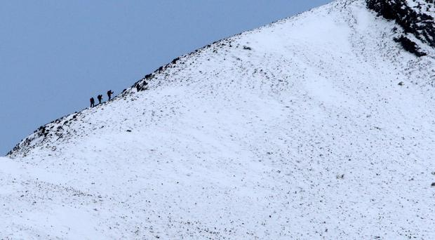 A rescue operation was launched after five out of a group of six people died in the Alps