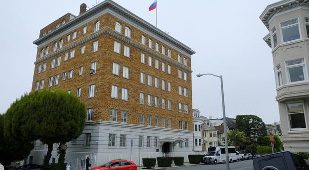 The Consulate-General of Russia in San Francisco (Eric Risberg/AP)
