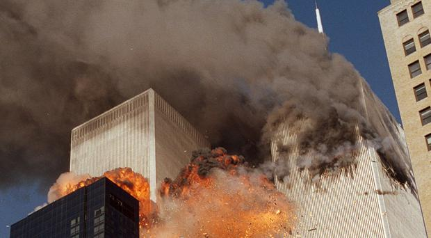 The horrific scene after the hijacked planes hit the World Trade Centre towers in New York