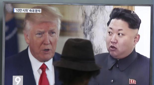 The Trump administration's original draft would have ordered all countries to impose an asset freeze and travel ban on North Korea's leader Kim Jong Un (AP)