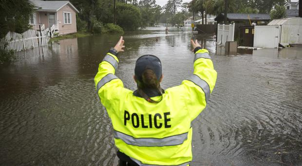 Police check on residents on Tybee Island, Georgia (AP)