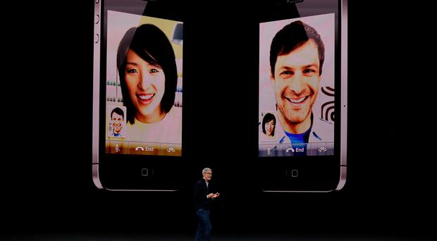 Apple CEO Tim Cook speaks during an Apple special event at the Steve Jobs Theatre in California