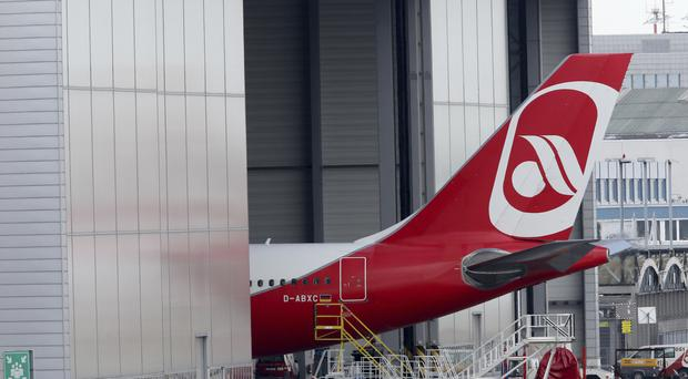 An Air Berlin plane at Dusseldorf