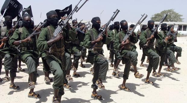 File photo of al-Shabab fighters (AP)