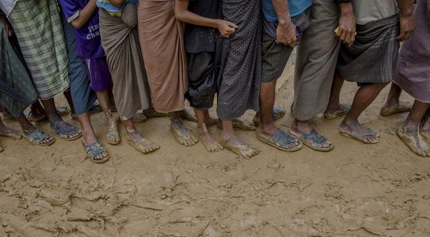 Recent violence in Burma has driven hundreds of thousands of Rohingya Muslims to seek refuge across the border in Bangladesh (AP)