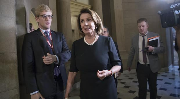 The agreement was announced in a joint statement from House Minority Leader Nancy Pelosi, pictured, and Senate Minority Leader Chuck Schumer