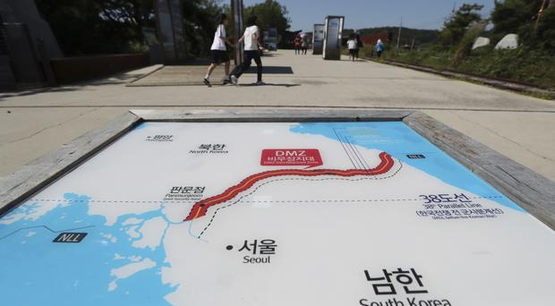 The missile was fired on Friday, according to South Korea (AP)