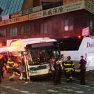 The scene of the crash in Queens (NYPD/AP)