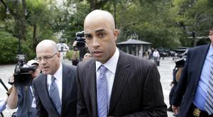 James Blake arrives at New York's City Hall (AP)