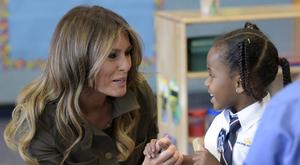 Mrs Trump will urge world leaders to unite to ensure a better future for children (AP)