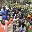 Supporters of opposition leader, Raila Odinga, demonstrating in Nairobi (AP)