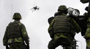 Swedish troops have been engaged in drills (AP)