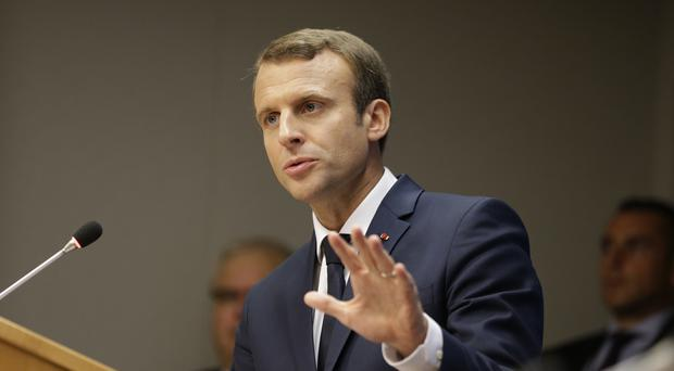 Emmanuel Macron laid out his vision for a more unified Europe (AP/Seth Wenig)
