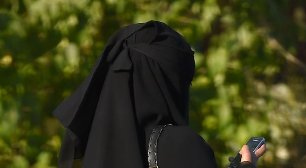 Stock picture of a woman wearing a burka